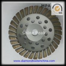 Turbo, ruedas abrasivas de cubeta para hormigón de piedra