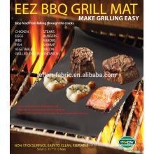 OEM Disponible Black 0.20mm BBQ Grill Mat con tamaño personalizado