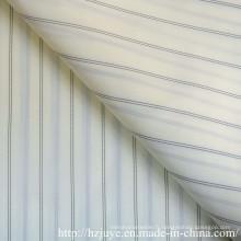 Tissu blanc avec doublure en deux cordes noires