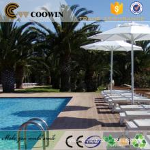 Waterproof pool side HDPE composite decking alternatives
