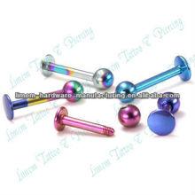 Лабретка бары Покрынный Титан Лабретка кольцо мяч Пирсинг губы Пирсинг ювелирные изделия 316L Хирургическая сталь
