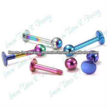 Labret Bars Titanium Plated Labret Ring Ball Lip Piercing Fashion Piercing Jewelry 316l Surgical Steel