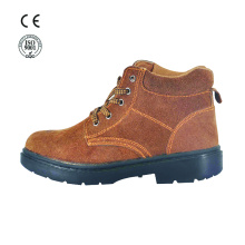 Leather industrial steel toe safety shoes