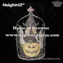 12in Height Large Crystal Ghost Halloween Crowns