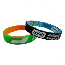 2020 year china hot selling dual layer silicone wristband