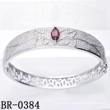Micro Pave CZ 925 brazalete de la joyería de la plata esterlina (BR-0384)