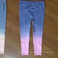 2016 Wholesale Gradient Colorful Seamless Kids Leggings