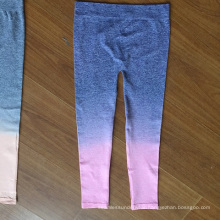 2016 Wholesale Gradient Colorful Seamless Kids Leggings