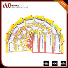 Elecpopular Most Wanted Products Placa de advertência de plástico Tag Lockout Pvc Tags