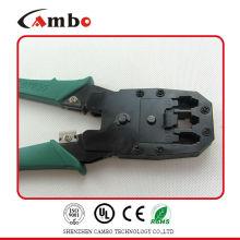 Hecho en China herramienta de rizado RJ45 RJ11 RJ12 Wire Cable Lug herramienta