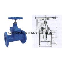Válvula de portão assentada metálica de haste DIN3352-F5