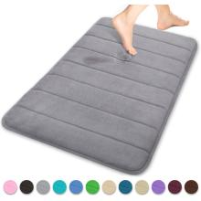 Comfity Memory Foam Bath Mat Grey