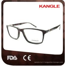 Verres optiques d'acétate de sport de Man, lunettes de lunettes, montures optiques d'acétate