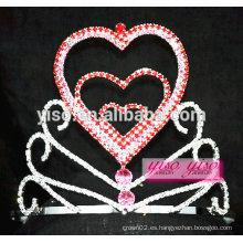 Preciosa cristal de cumpleaños de pelo nupcial peines princesa hermosa tiara