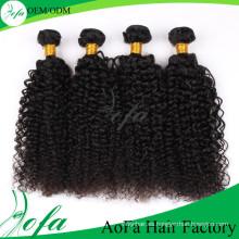 Hot-Selling 7A alta calidad rizada onda rizada Virgen Mongolia pelo