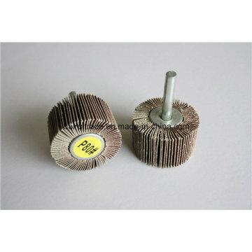 Rueda de aleta con eje para amolar / pulir orificio de metal