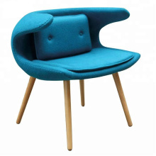 European latest Leisure Design Fabric Wooden Living Room Furniture Lazy Chair
