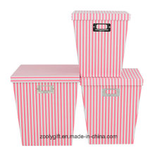 Popular Stripe Printing Office File Organizer Storage Boxes