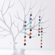 8MM / 6MM Perles en pierre 7 Chakra Earring Healing