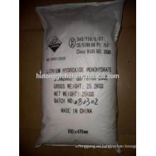 Hidróxido de litio de grado de batería LiOH H2O