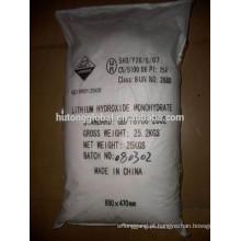 Hidróxido de lítio de grau de bateria LiOH H2O