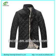 2015 hot sale black quilted winter man jacket