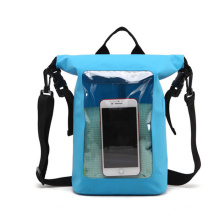 Custom Logo Lightweight Floating Sport Waterproof PVC Dry Backpack Outdoor Camping Dry Bag with Phone Pocket