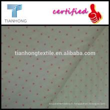 point rose ou violet imprimé sur coton jacquard style tissu haute qualité tissé 40 * 40 pour la robe chemise