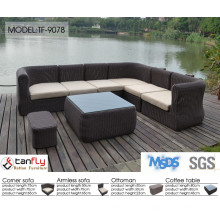 Weather resistant perfect quality round wicker outdoor modern sofa