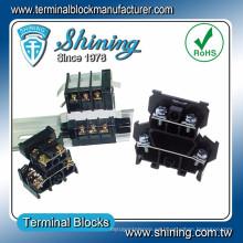 TD-025 M4 Tornillo de montaje en carril DIN Cable de doble tono Papepp Conector de alambre