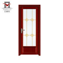 2018 alibaba aluminio puerta de baño precio barato precio de la puerta del balcón