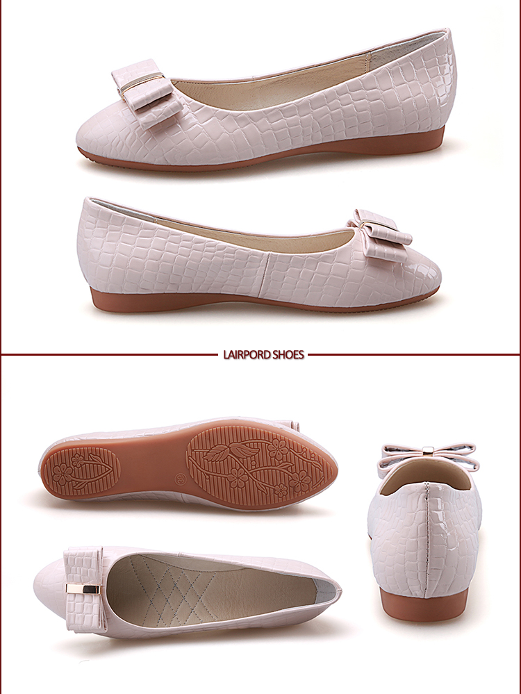 white flat soft shoe