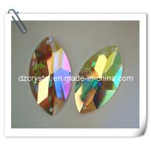 Grano de piedra de la ropa de cristal con el cristal Ab Color