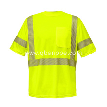 Fashion apparel safety reflective security t-shirt