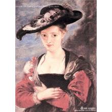 A-line rundhals knielangen Taft Blumenmädchen Kleid