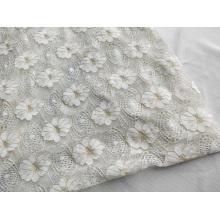 Tissu à tricoter en dentelle métallique