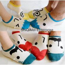 Calcetines de algodón entre padres e hijos de dibujos animados feliz de los amantes