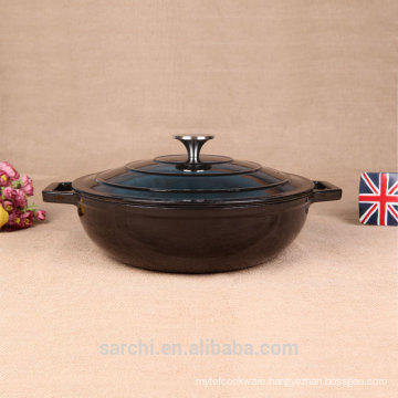 Chinese non-stick cookware black pot for stocking