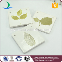 Estilo natural forma cuadrada para la decoración con el patrón de hoja verde