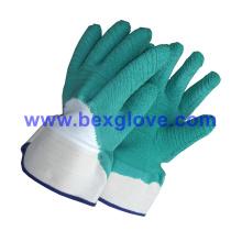 Желтая латексная перчатка, защитная манжета