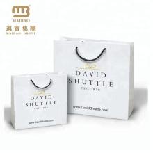 Bolsa de papel de compras personalizada de regalo de estilo reciclado de lujo reciclable con su propio diseño de logotipo