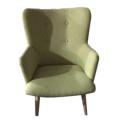 Light green single person sofa