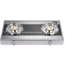 Mirror Glass Top Brass Burner Europe Stove
