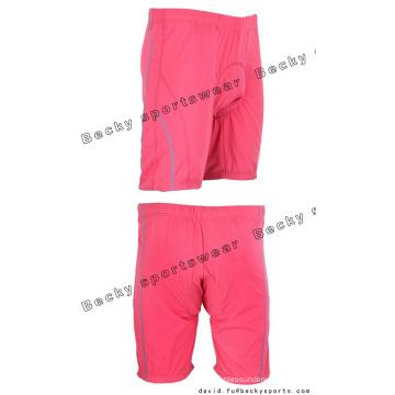 Mujeres Pink Brief Quick Dry Cycling Shorts