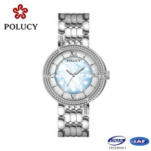 Custom Your Own Brand Luxury Ladies Fancy Ronda Movement Diamond Watch