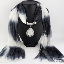 Fashion Women's Elegant Charm Tassels Rhinestone Decorated wholesaler jewelry with jewelry scarf pendant scarf jewelry scarf