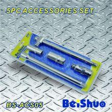 5PCS CRV Stahl-Schiebeschlüssel-Schlüssel-Verlängerungs-Stab-Handwerkzeuge