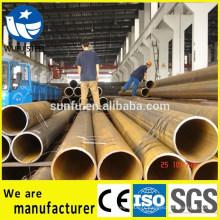 Chine fournisseur soudé noir ligne de pipe Erw