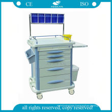 AG-AT007B3 Luxurious mobile ABS anaesthetic hospital medication trolley