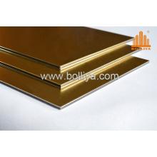 Decorative Wall Panels/Aluminum Composite Panels Ad-836 Golden Brushed